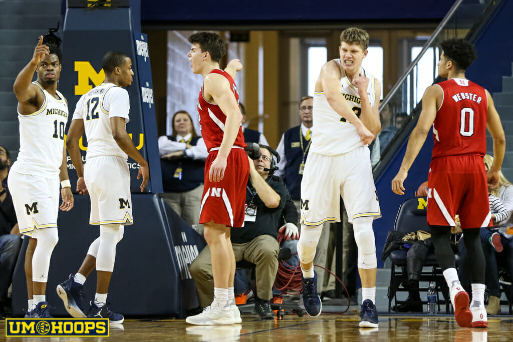 Michigan 91, Nebraska 85-18