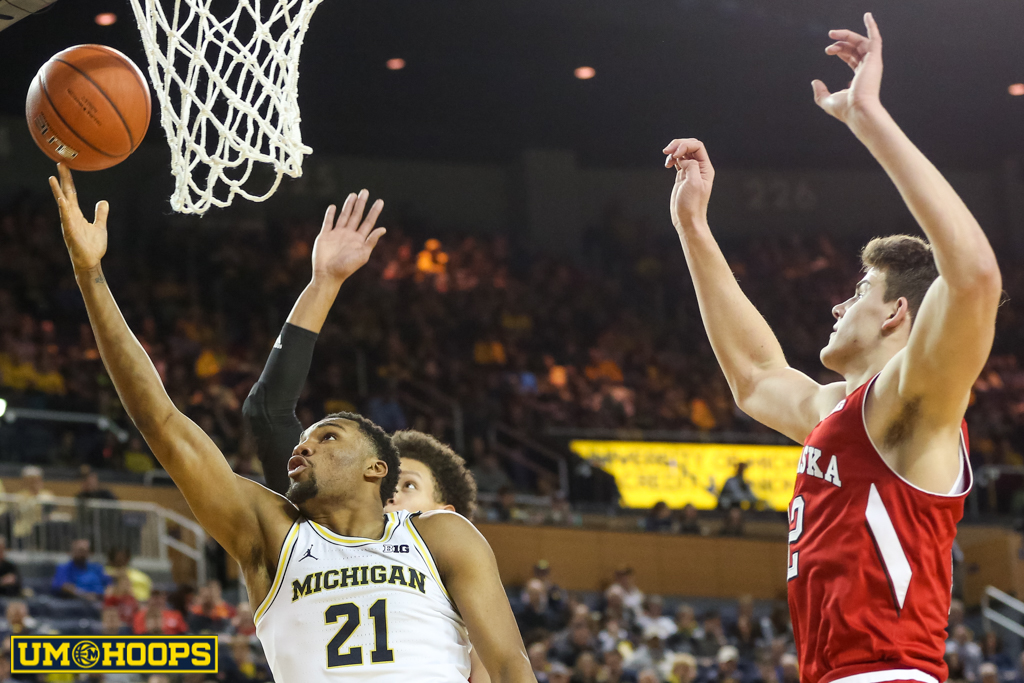 Michigan 91, Nebraska 85-15