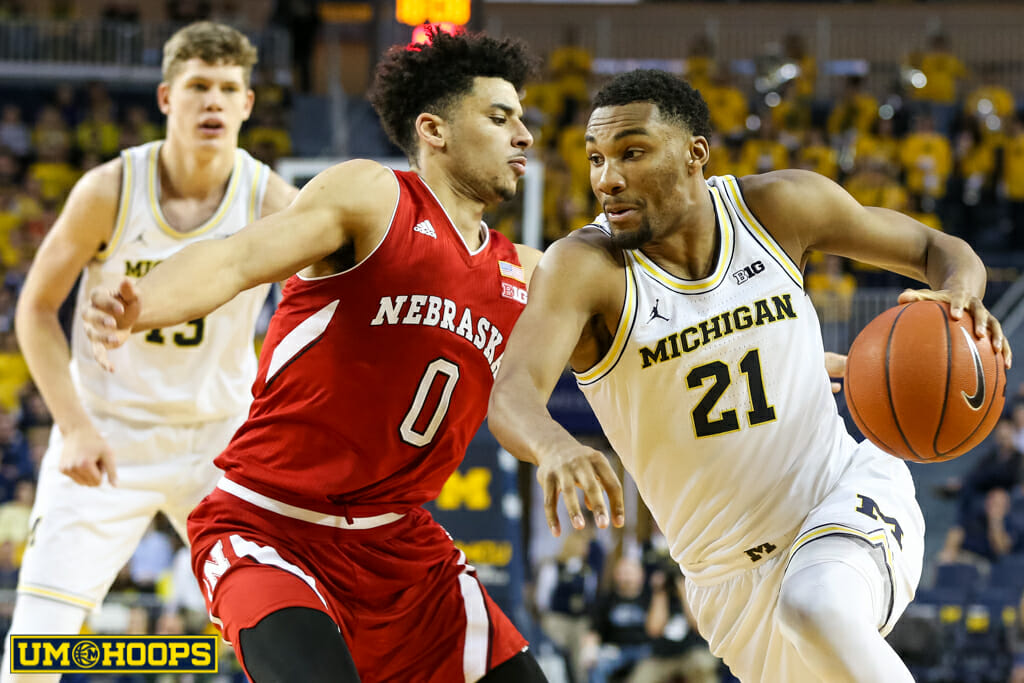 Michigan 91, Nebraska 85-14