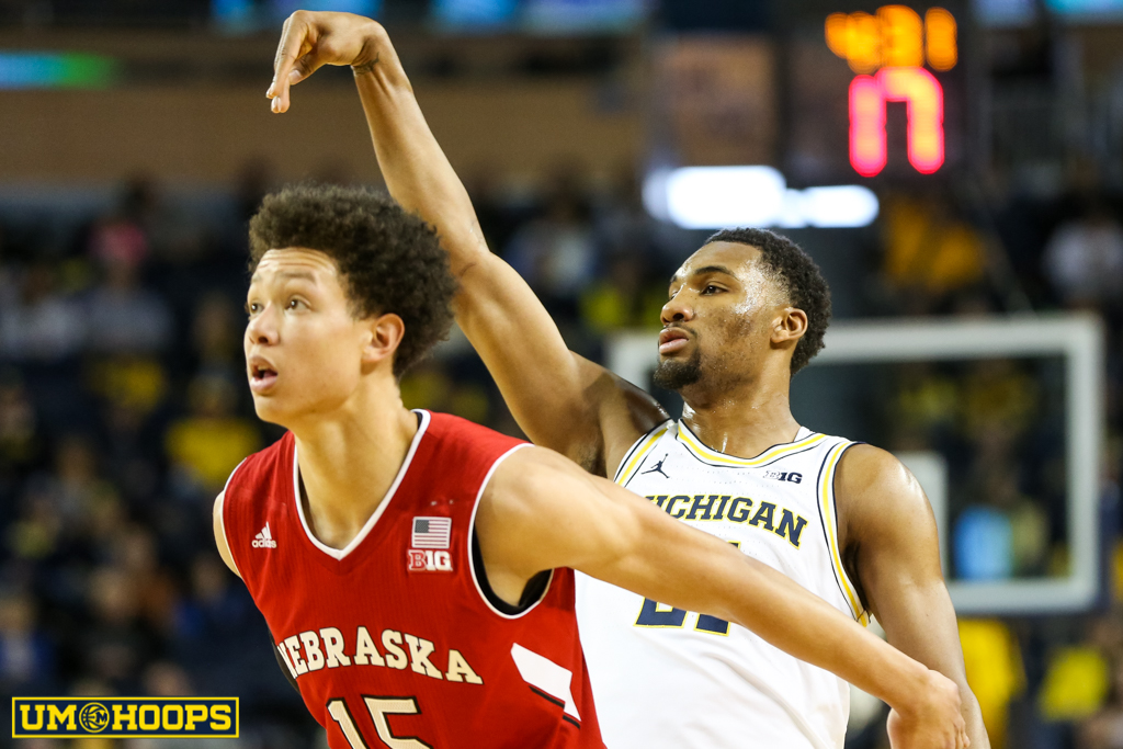 Michigan 91, Nebraska 85-10