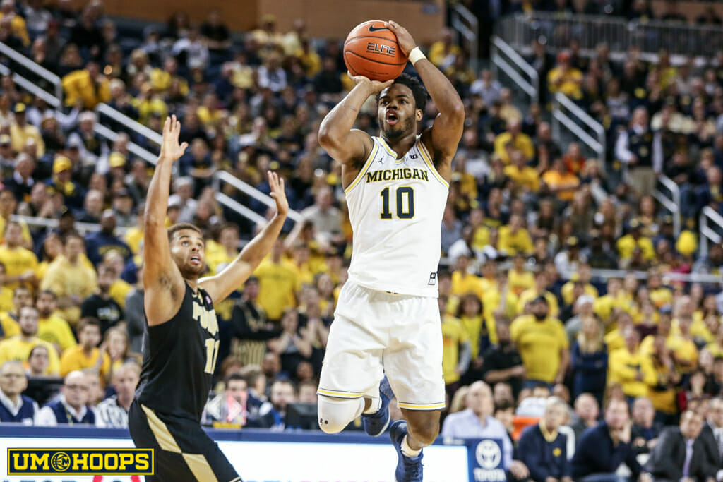 Michigan 82, Purdue 70-22