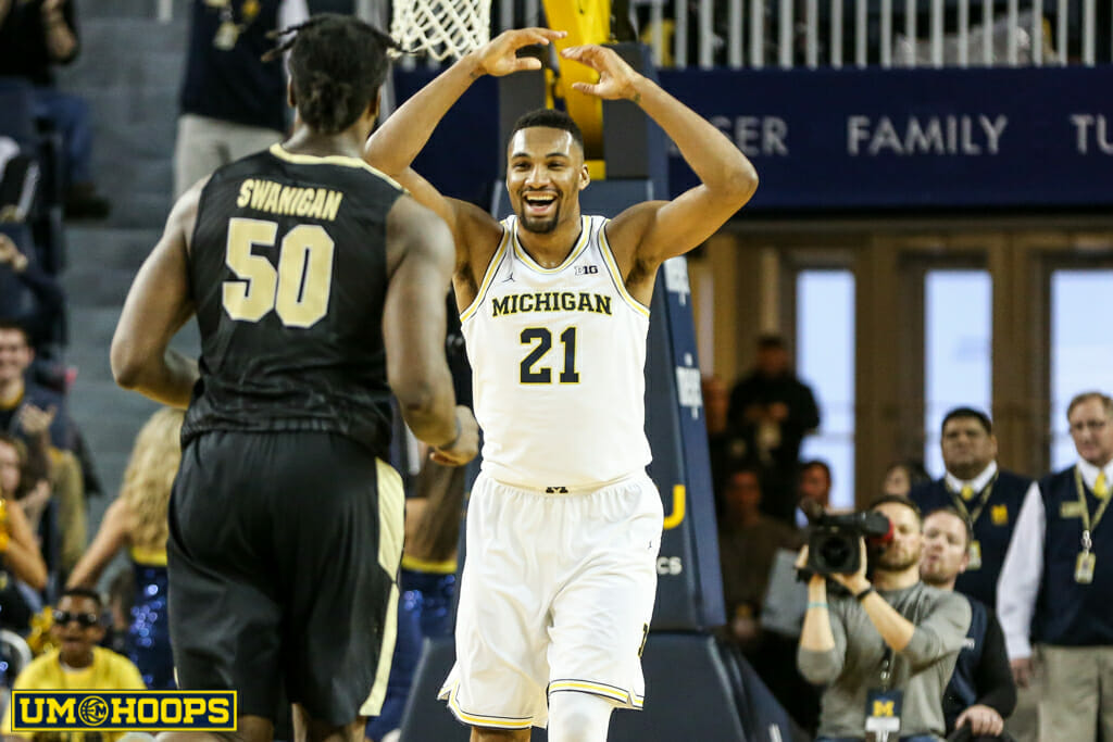 Michigan 82, Purdue 70-19