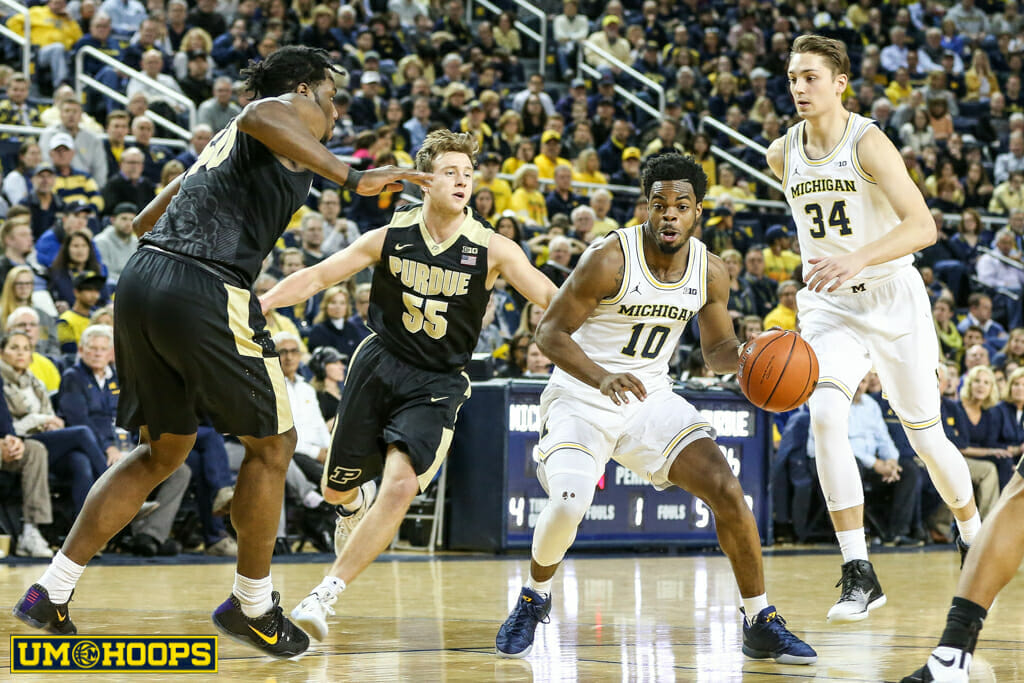 Michigan 82, Purdue 70-15