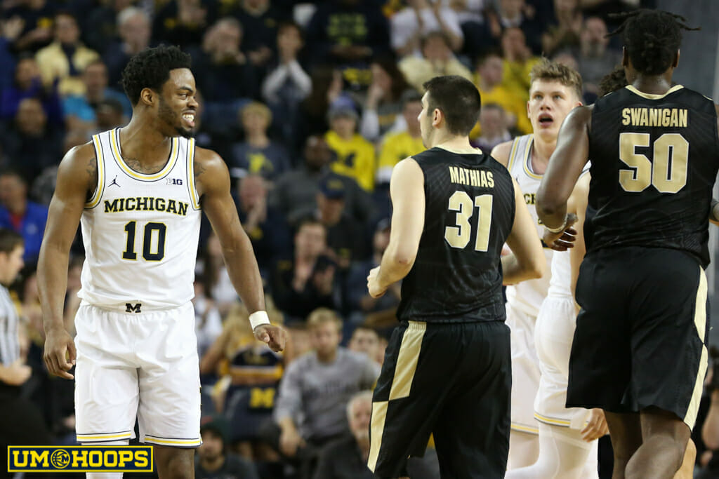 Michigan 82, Purdue 70-8