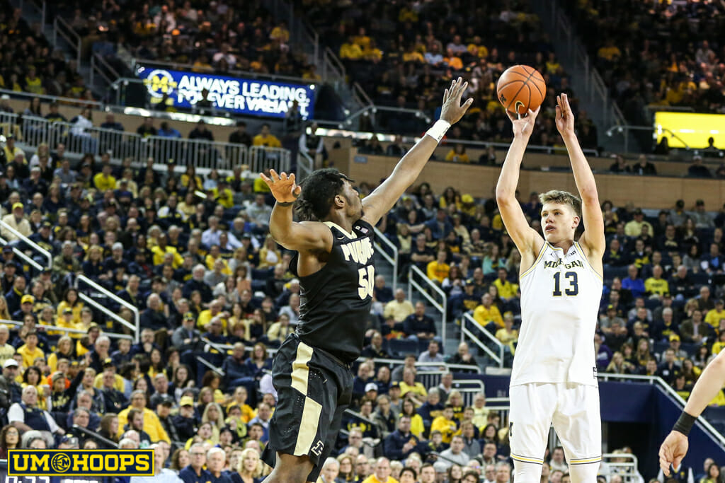 Michigan 82, Purdue 70-5