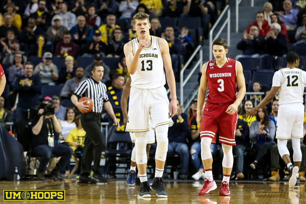 Michigan 64, Wisconsin 58-8