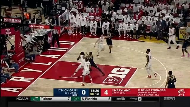 Five Key Plays: Michigan 85, Maryland 61