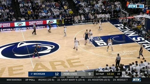 Five Key Plays: Michigan 72, Penn State 63