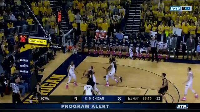 Five Key Plays: Michigan 74, Iowa 59