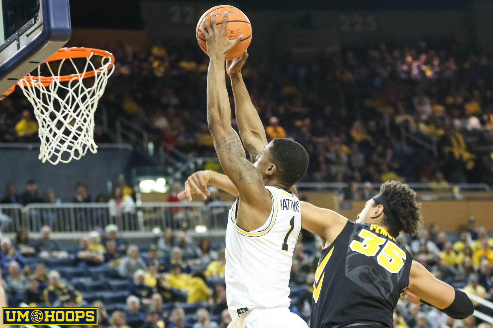 Michigan 74, Iowa 59-31