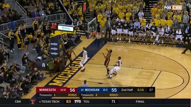 Five Key Plays: Michigan 76, Minnesota 73