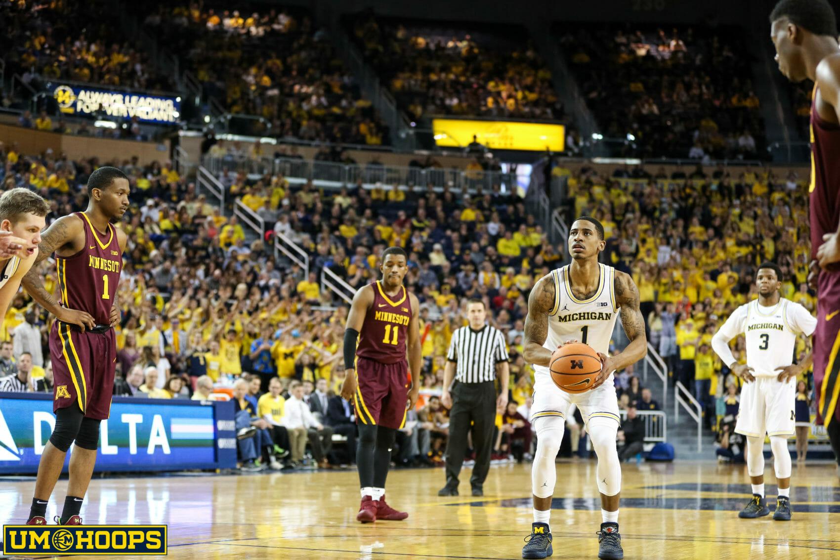 Michigan 76, Minnesota 73-15