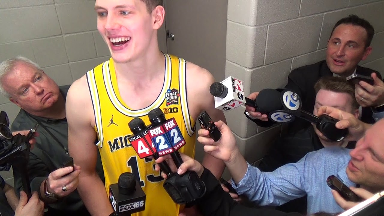 Video: Michigan players react to Final Four win over Loyola
