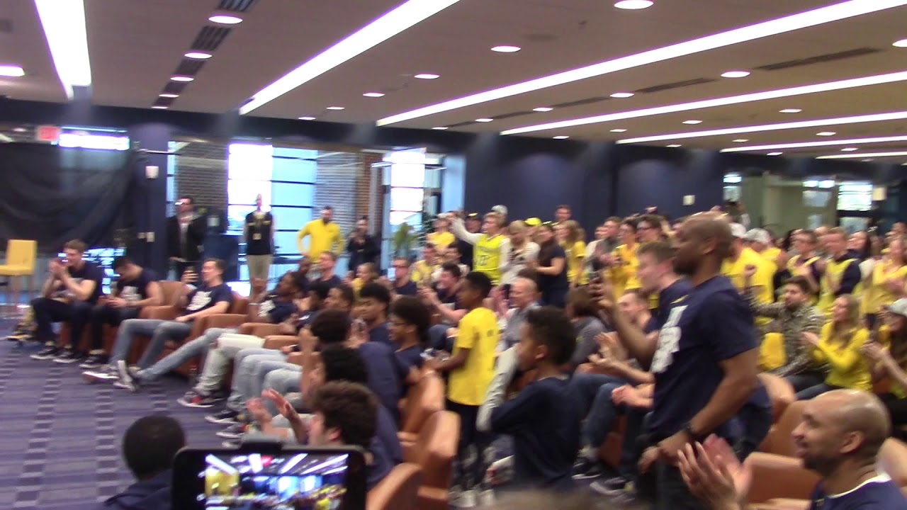 Video: Michigan players react to drawing Montana in NCAA Tournament