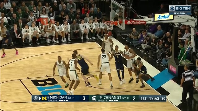 Five Key Plays: Michigan 75, Michigan State 64