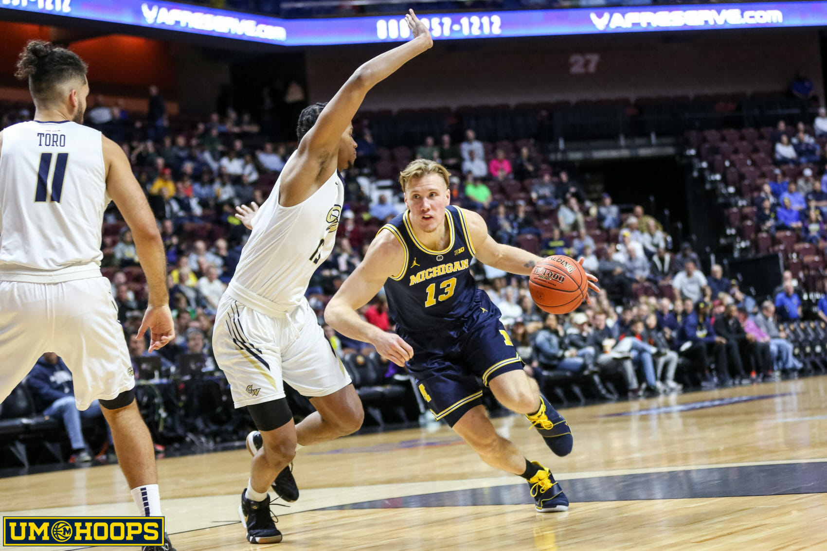 Michigan 84, George Washington 61-18