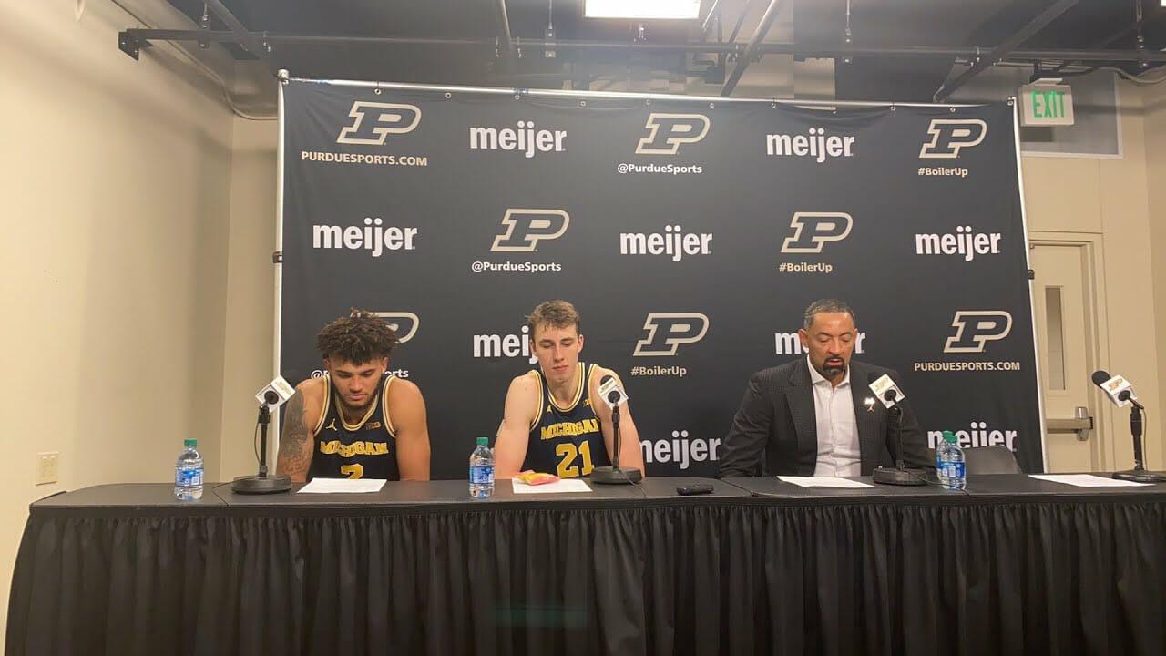 Video: Juwan Howard, Isaiah Livers and Franz Wagner recap win at Purdue