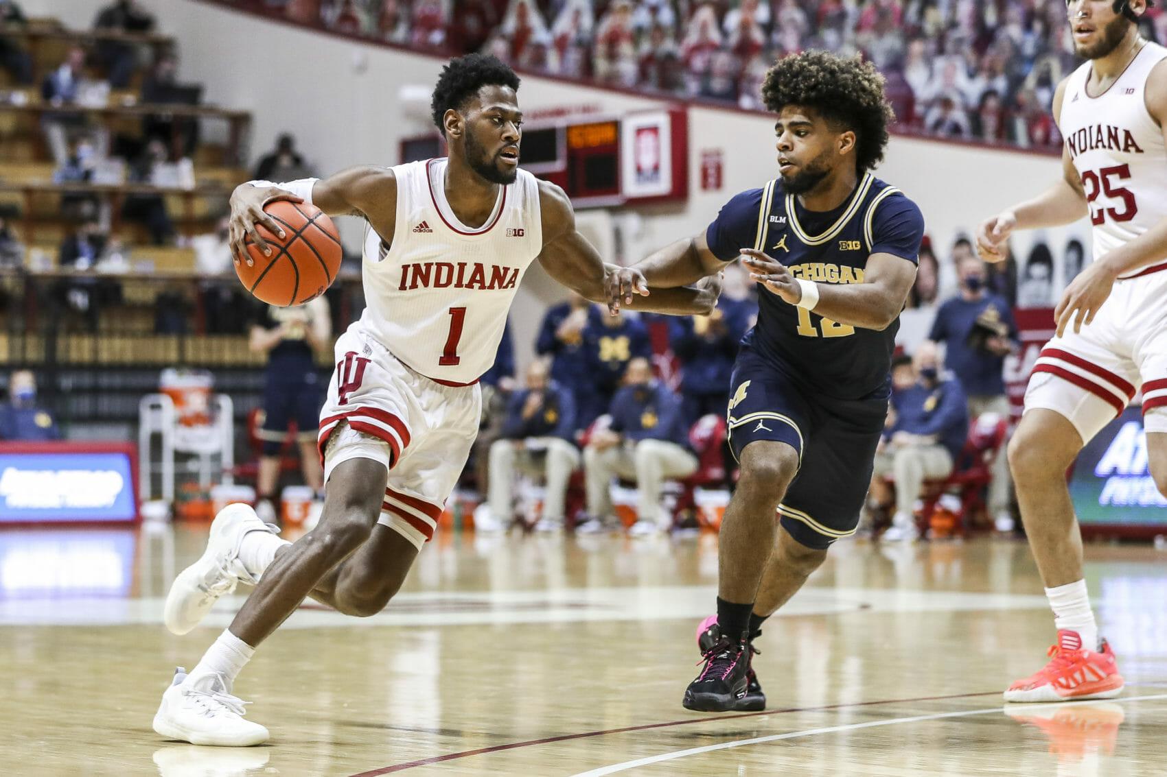 BLOOMINGTON, IN – 2021.02.27 – Men's Basketball vs. Michigan